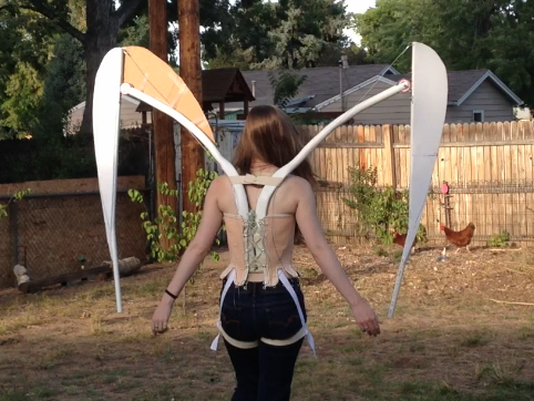 Cosplay Costume Articulated Wing Structure